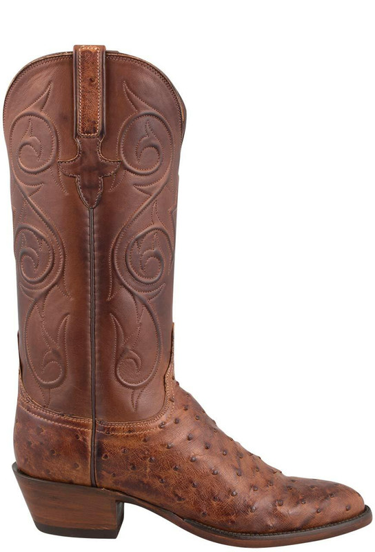 LUCCHESE WOMEN'S BARNWOOD FULL-QUILL OSTRICH BOOTS