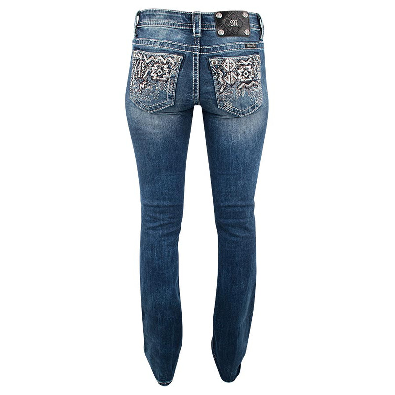 def194dafe91e0 Miss Me Aztec Signature Bootcut Jeans - Pinto Ranch