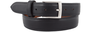 "Spanish Calf 1 1/4"" Straight Belt - Black"