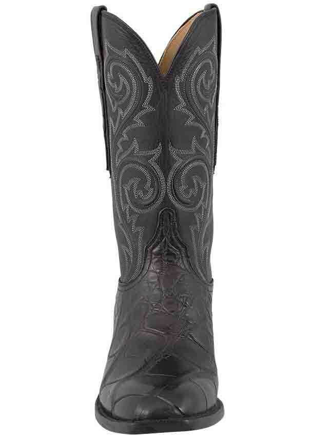 a86c0dce2f8 Lucchese Men's Black Big Tile Wild Gator Boots