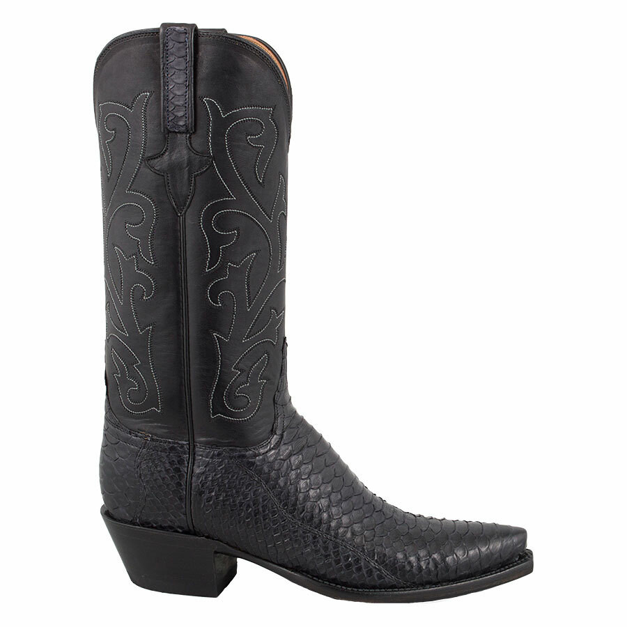 f56cd6c9164 Lucchese Women's Black Python Boots