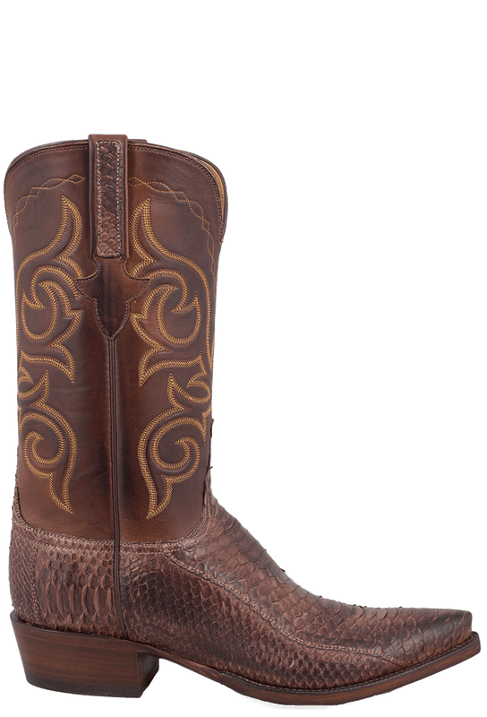 Men S Lucchese Python Boots Buy Men S Lucchese Pecan