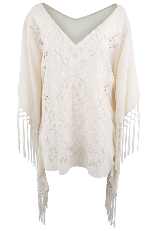 4 Love and Liberty Sophie Fringe Poncho - Front