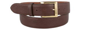 "Smooth Ostrich 1 1/2"" Straight Belt - Sienna"