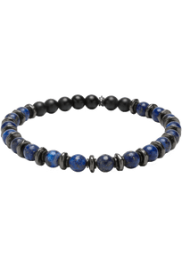Kenton Michael Stone and Gunmetal Sequence Bracelet - Blue Lapis
