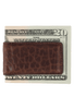 Bison Magnetic Money Clip - Brown - Back