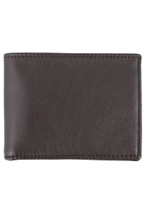 Calf Slim Fold Wallet - Brown - Front