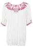 Biya Quanta Embroidered Blouse - Back