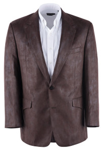 Dark Brown Microfiber Western Sport Coat - Front