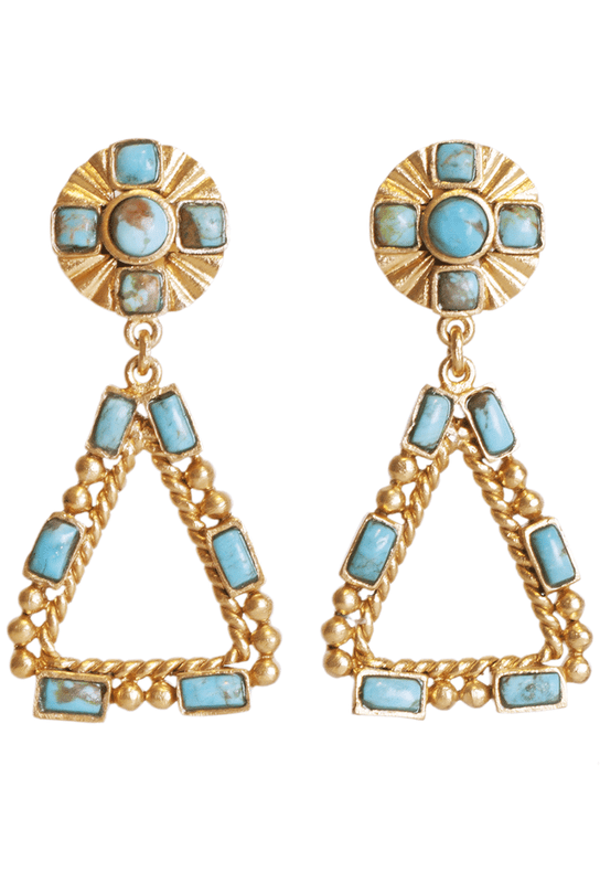 Christina Greene Southwestern Chandelier Earrings - Front