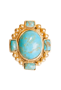 Christina Greene Southwestern Statement Ring  - Front