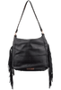 American West Dream Catcher Soft Shoulder Hobo Bag - Black - Back