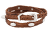 Scalloped Leather Hat Band with Conchos - Tan - Band