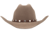 Scalloped Leather Hat Band with Star Conchos - Brown - Front