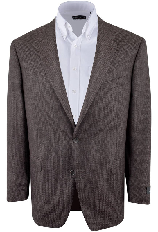 Brown Herringbone Sergio Sport Coat - Front