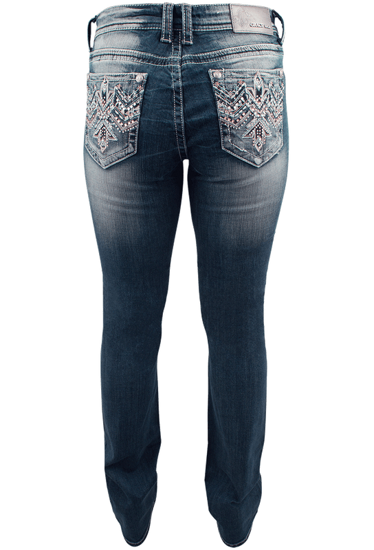 Grace in L.A. Easy Fit Thunderbird Bootcut Jeans - Back