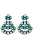 Rocki Gorman Turquoise Chandelier Earrings