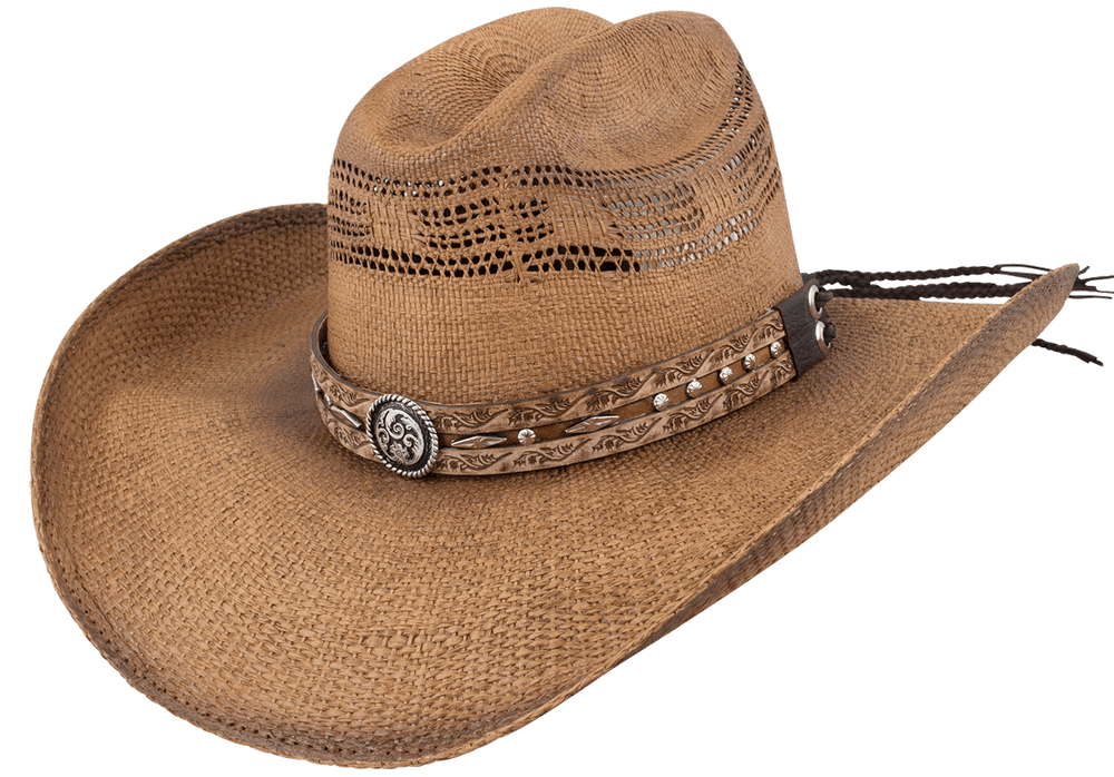 Bullhide Corral Dust Straw Hat - Pecan - Hero