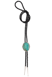 Pinto Ranch Green Turquoise Bolo Tie