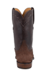 Lucchese Men's Chocolate Hippo Roper Boots - Back