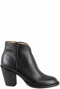 Lucchese Women's Black Baby Buffalo Lucy Booties - Side