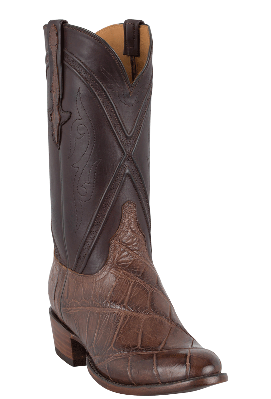 Lucchese Gator Boots - Buy Lucchese Mens Chocolate Wild
