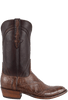 Lucchese Men's Chocolate Wild Gator Boots - Side