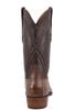 Lucchese Men's Chocolate Wild Gator Boots - Back