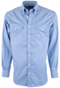 Pinto Ranch YY Collection Blue Fancy Solid Shirt - Front