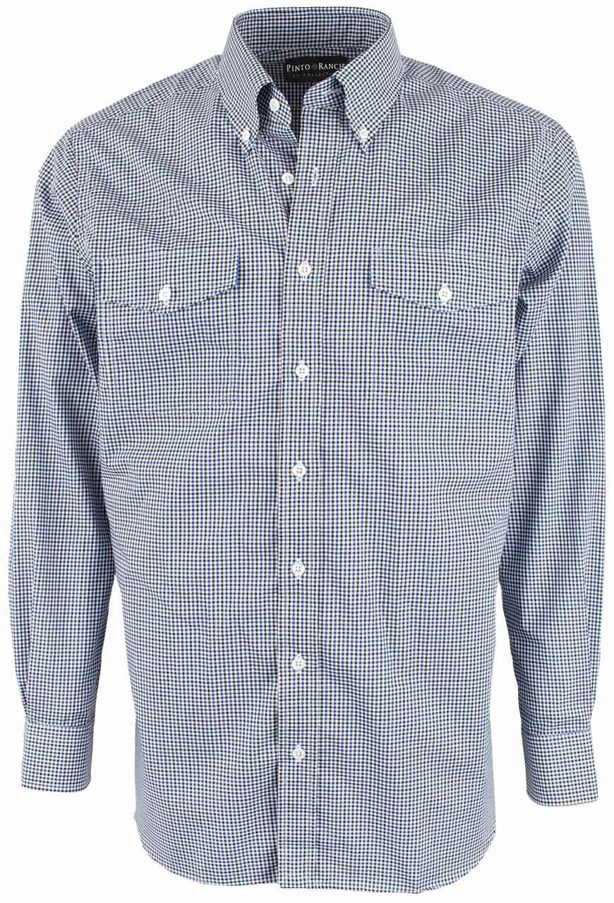 fe3d2e45ac8 ... collar Tailor Store Source · Pinto Ranch YY Collection Blue and Black  Graph Check Shirt