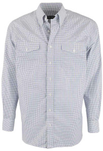 Pinto Ranch YY Collection Purple and Green Check Shirt- Front