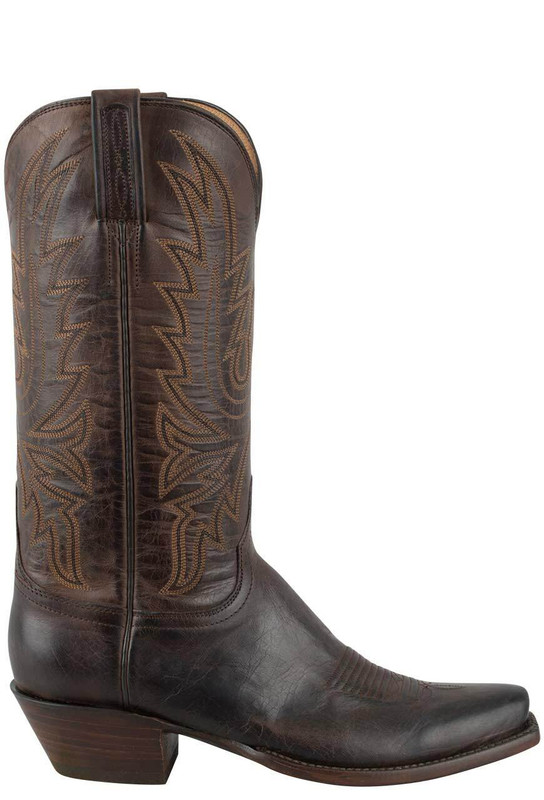 LUCCHESE WOMEN'S CHOCOLATE BURNISHED MAD DOG GOAT BOOTS