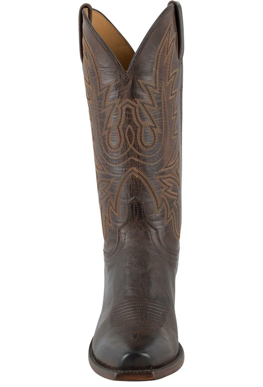 3bdf4be4135cb Lucchese Women's Chocolate Burnished Mad Dog Goat Boots - Front