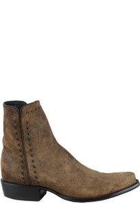 Stallion Men's Zorro Euro Vintage Lamb Ankle Boots - Side