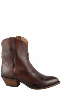Lucchese Women's Tan Jersey Calf Shorty Boots - Side