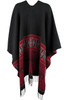 Alberto Makali Red and Black Shawl - Back