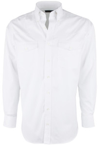 Pinto Ranch YY Collection White Pinpoint Solid Shirt - Front