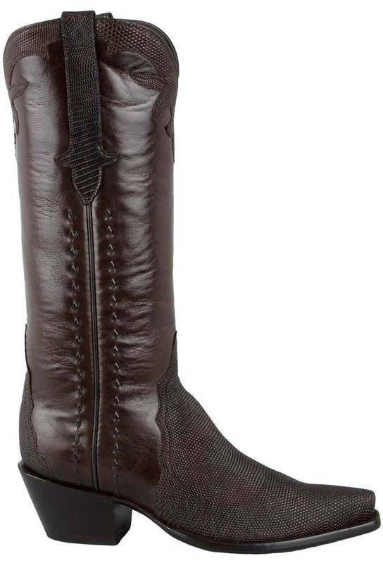 STALLION WOMEN'S CHOCOLATE LIZARD TRIAD BOOTS