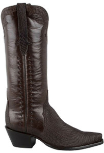 Stallion Women's Chocolate Lizard Triad Boots - Side