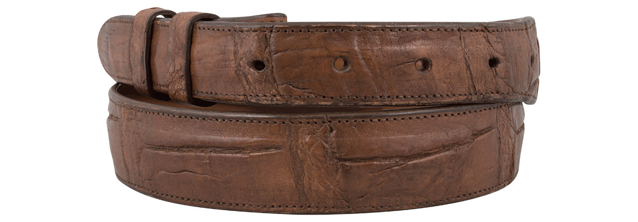 9248ff94ef9 Alligator Antique Cognac 1 1/4 - 1