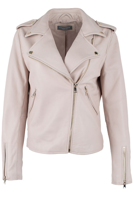 Bagatelle Moto Jacket with Gold Trim - Front