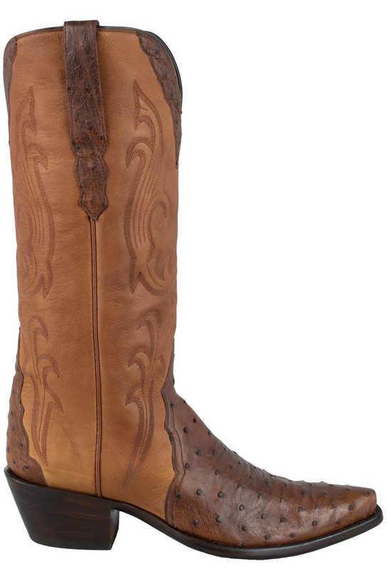 STALLION WOMEN'S ANTIQUE SADDLE FULL-QUILL OSTRICH TRIAD BOOTS