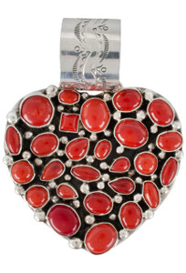 Rocki Gorman Red Coral Heart Pendant - Front