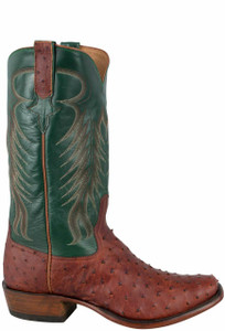 Rios of Mercedes Men's Brandy Lux Full-Quill Ostrich Boots - Side