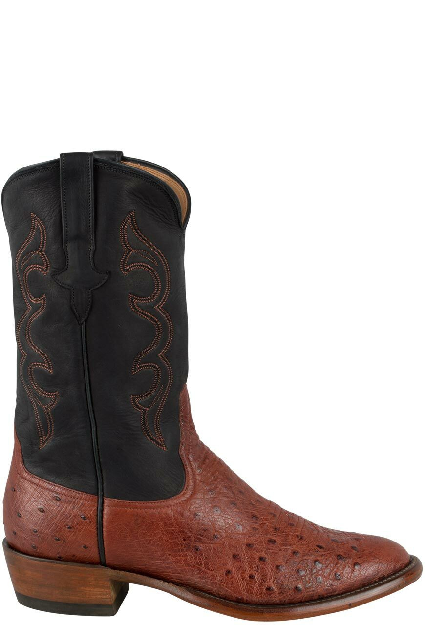 7617d391454 Rios of Mercedes Men's Almond Americano Smooth Ostrich Boots
