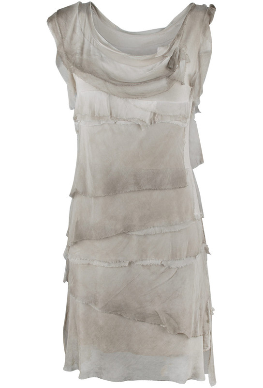 1da5df72430e6d Gigi Sleeveless Short Ruffle Dress - Taupe - Front