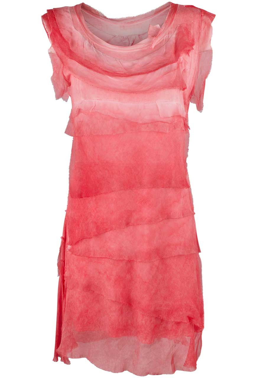 b3216bb5e6c8c0 Gigi Sleeveless Short Ruffle Dress - Coral - Front