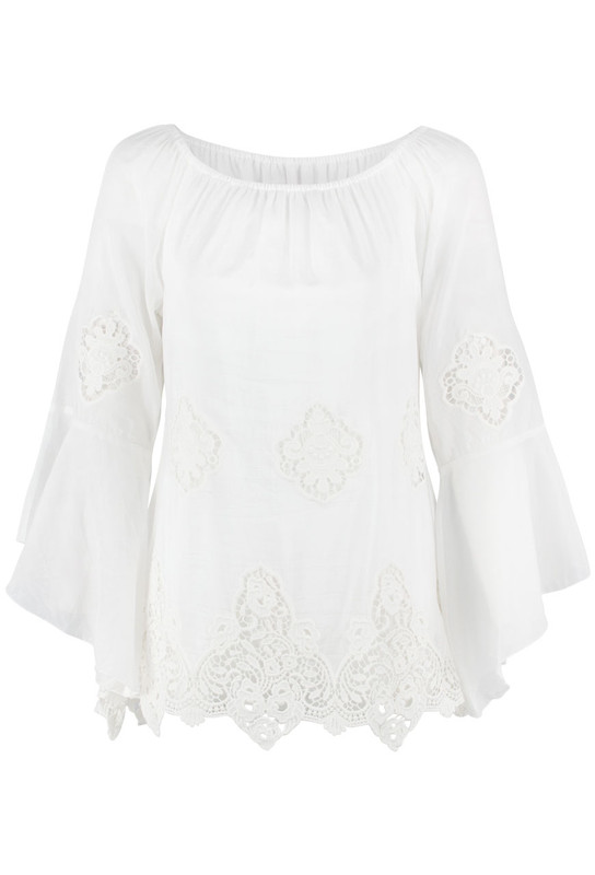 Bronte Skylar Lace Top - Front
