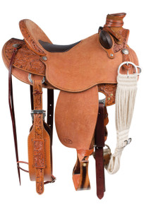 Pinto Ranch Ray Hunt Wade Western Saddle - Side