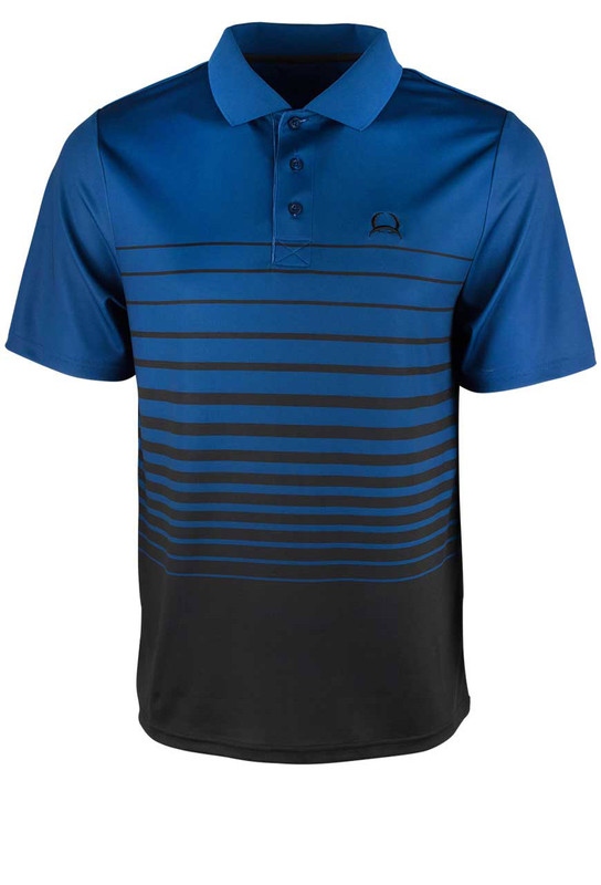 feb9fd7332f Cinch ArenaFlex Blue and Black Gradient Stripe Polo Shirt - Pinto Ranch